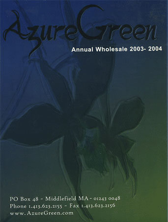 AzureGreen 2003 - 2004 Product Listing Book/Catalog