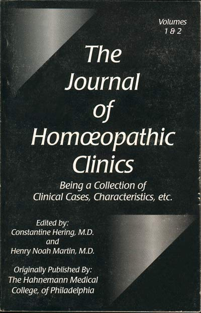 The Journal of Homeopathic Clinics
