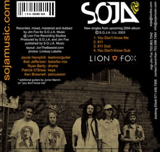 Positronic Print Design Portfolio - CD/DVD Covers - SOJA - 911