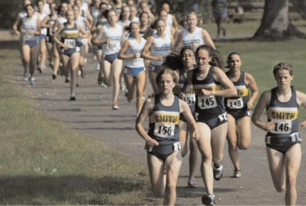 Front of Smith College Athletic Postcard Leading the Pack 2006 Smith Cross Country.