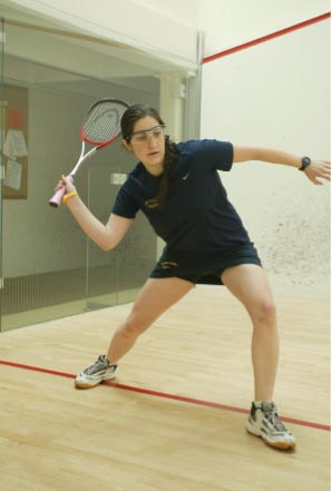 Front of Smith College Athletic Postcard Captain Kate Whitesell '08 2006-07 Smith Squash.
