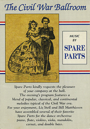 Cover of The Civil War Ballroom Postcard Design