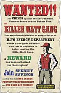 WANTED - The Killer Watt Gang Poster