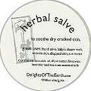 Delights of the Earth Herbal Salve Circular Sticker