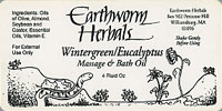 Earthworm Herbals Sticker and Label